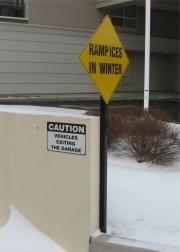 ALUMINUM PARKING, TRAFFIC & STREET SIGNS (12)