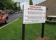 ALUMINUM PARKING, TRAFFIC & STREET SIGNS (20)