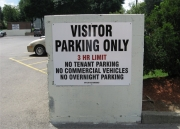 ALUMINUM PARKING, TRAFFIC & STREET SIGNS (22)