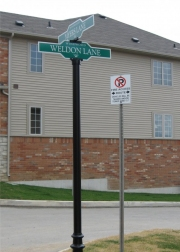 ALUMINUM PARKING, TRAFFIC & STREET SIGNS (4)